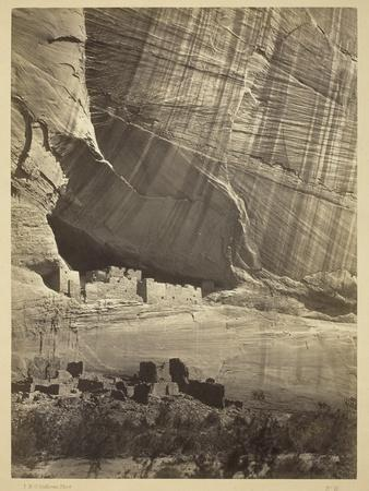 Ancient Ruins in the Canyon De Chelly, N.M., in a Niche 50 Feet Above Present Canyon Bed, 1873