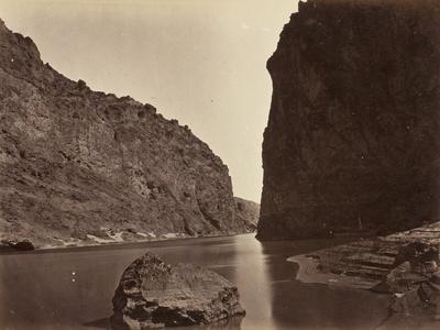 Black Cañon, Colorado River, Looking Below, Near Camp 7, 1871