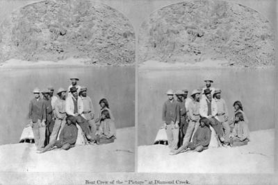 Explorers at Diamond Creek by Timothy O' Sullivan