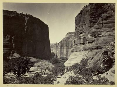 Head of Cañon De Chelle, Looking Down. Walls About 1200 Feet in Height, 1873