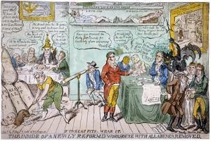 The Inside of a Newly Reformed Workhouse with All Abuses Removed, 1813 by Timothy Teas