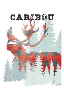 Plaid Caribou by Tina Carlson
