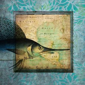 Sword Fish Map by Tina Carlson