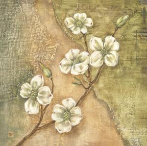 Burlap Dogwood Blossom by Tina Chaden