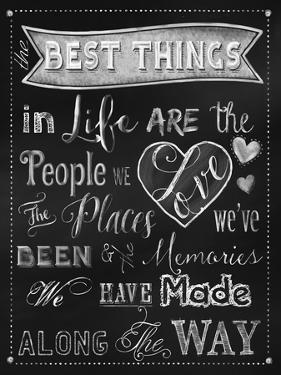 Best Things Chalkboard by Tina Lavoie