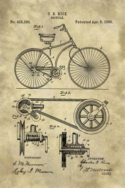Bicycle Blueprint Industrial Farmhouse by Tina Lavoie