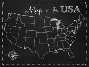 Chalkboard US Map by Tina Lavoie