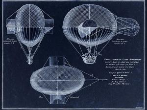 French Airship Balloon 1784 by Tina Lavoie