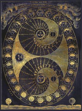 Golden Elements Of The Moon Astronomy Chart by Tina Lavoie