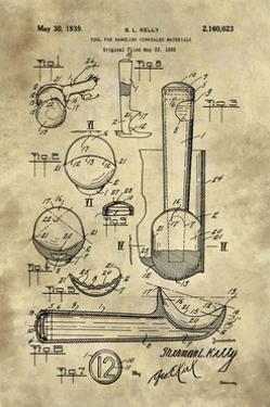 Ice Cream Scoop Blueprint - Industrial Farmhouse by Tina Lavoie