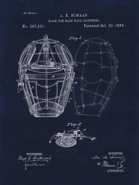 Mask for Baseball Catcher by Tina Lavoie