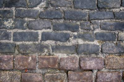 Old Montreal Bi-Color Cobblestone Street by Tina Lavoie