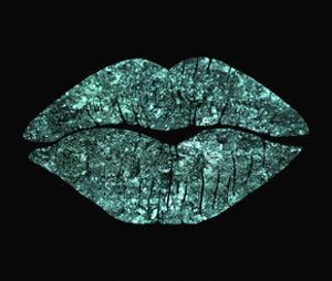 Teal Glitter Kiss by Tina Lavoie