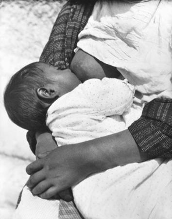 Baby Nursing (Conchita with Her Mother Luz Jimenez), Mexico City, 1926 by Tina Modotti