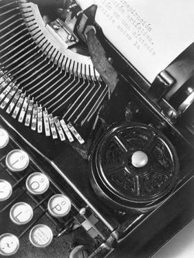 La Tecnica - the Typewriter of Julio Antonio Mella, Mexico City, 1928 by Tina Modotti