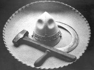 Mexican Revolution: Sombrero with Hammer and Sickle, Mexico City, 1927 by Tina Modotti