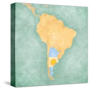 Map Of South America - Argentina (Vintage Series) by Tindo
