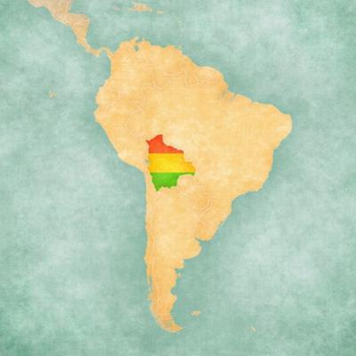 Map Of South America - Bolivia (Vintage Series) by Tindo