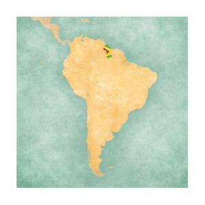 Map Of South America - Guyana (Vintage Series) by Tindo