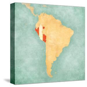 Map Of South America - Peru (Vintage Series) by Tindo