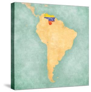 Map Of South America - Venezuela (Vintage Series) by Tindo