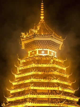 Drum Tower in Guizhou, China by Tino Soriano
