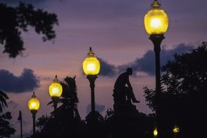 Square and Monument to Jose De La Cruz Y Caballero in Havana by Tino Soriano