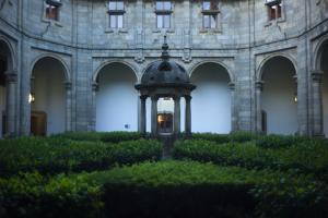 The Courtyard at the Parador Hostal De Los Reyes Catholics by Tino Soriano