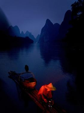 The Li River at Night in Guilin, Guangxi Province, China by Tino Soriano