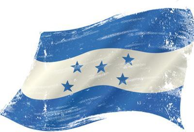 A Grunge Flag of Honduras in the Wind for You