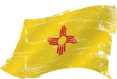 New Mexico Grunge Flag. A Grunge Flag of New Mexico in the Win with a Texture