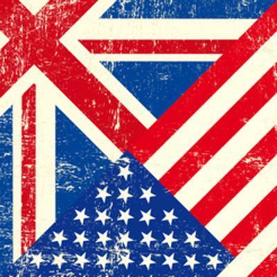 Uk And American Grunge Flag