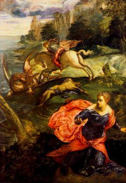 Tintoretto St George and the Dragon Art Print Poster