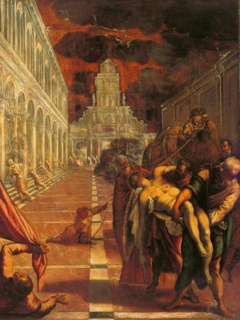 Stealing of the Dead Body of St. Mark by Tintoretto