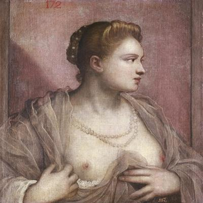 Woman Revealing Her Breasts