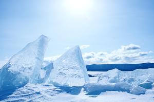 Winter Ice Landscape on Lake Baikal by Tiplyashin Anatoly