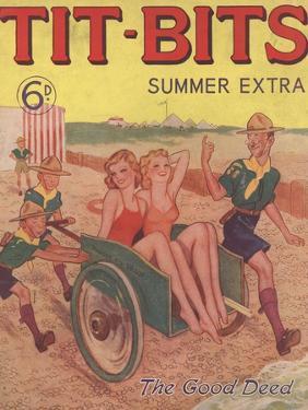 Tit-bits, Boy Scouts Holiday Beaches Magazine, UK, 1930