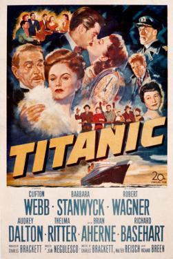 Titanic, Clifton Webb, Barbara Stanwyck, Robert Wagner, Audrey Dalton, Richard Basehart, 1953