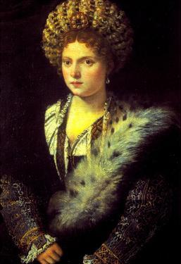 Titian Isabella in Black Art Print Poster