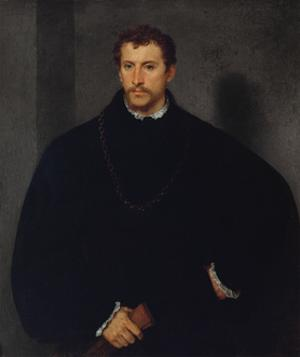 Portrait of an Unknown Man (The Man with Grey Eyes, or The Englishman) by Titian