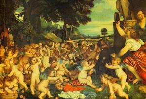 Titian The Worship of Venus Art Print Poster