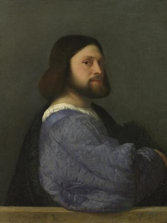 A Man with a Quilted Sleeve (Ludovico Ariost), C. 1510 by Titian (Tiziano Vecelli)