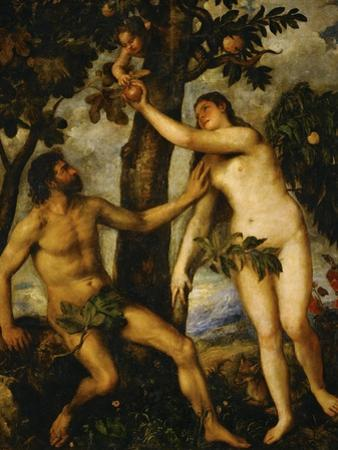 Adam and Eve, Around 1570 by Titian (Tiziano Vecelli)