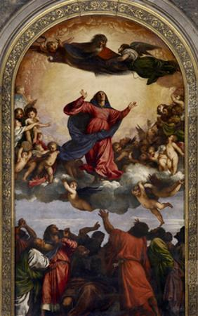 Assumption of the Virgin by Titian (Tiziano Vecelli)