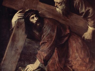Christ and Simon the Cyrenian by Titian (Tiziano Vecelli)
