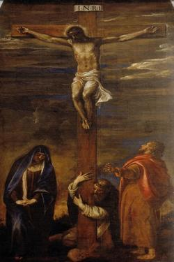 Christ on the Cross with the Virgin, Saint John and Saint Dominic by Titian (Tiziano Vecelli)