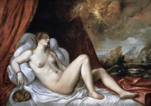 Danae, 16th Century by Titian (Tiziano Vecelli)