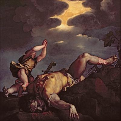 David and Goliath by Titian (Tiziano Vecelli)