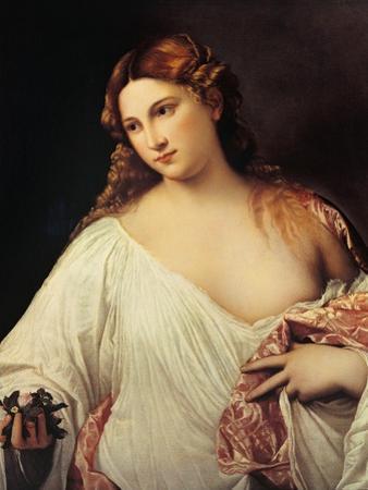 Flora by Titian (Tiziano Vecelli)
