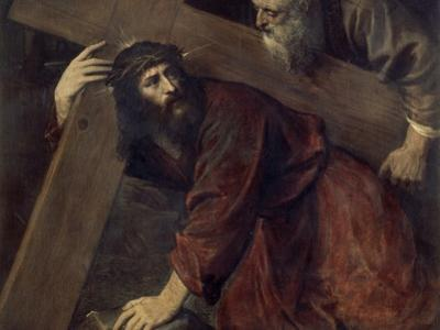 Jesus with the Crucifix by Titian (Tiziano Vecelli)